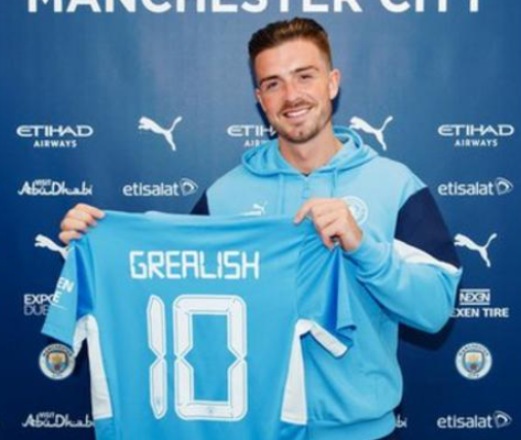 Manchester City have signed Jack Grealish